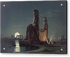 The Colossi Of Memnon, Thebes, One Acrylic Print by Carl Friedrich Heinrich Werner