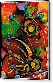 The Colours Of My Mind.. Acrylic Print by Jolanta Anna Karolska