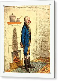 The Comforts Of A Rumford Stove Vide Dr. G-rn-ts Lectures Acrylic Print by Litz Collection