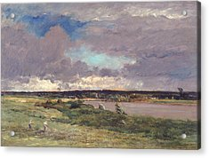 The Coming Storm Acrylic Print by Charles Francois Daubigny