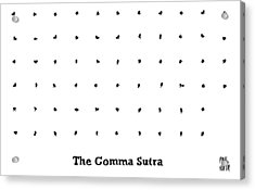 The Comma Sutra. Images Of Commas In Different Acrylic Print