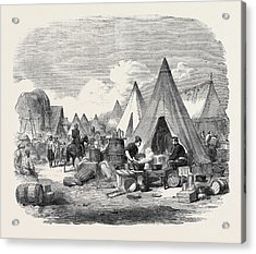 The Commissariat Camp In The Crimea Acrylic Print by English School