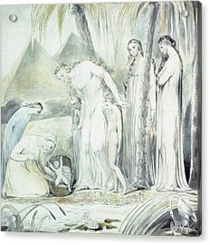 The Compassion Of Pharaohs Daughter Or The Finding Of Moses Acrylic Print by William Blake