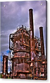 The Compressor Building At Gasworks Park - Seattle Washington Acrylic Print by David Patterson