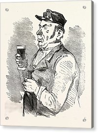 The Concierge Of The Roche-noire Castle Drinking Acrylic Print by French School