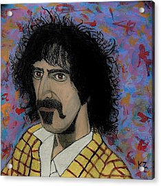 The Conductor Frank Zappa Acrylic Print by Ken Zabel
