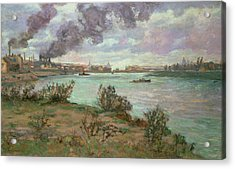 The Confluence Of The Seine And The Marne At Ivry Acrylic Print