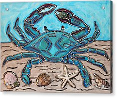 The Content Crab Acrylic Print