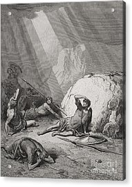 The Conversion Of St. Paul Acrylic Print by Gustave Dore