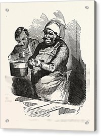 The Cook And His Pan, Europe Acrylic Print by French School