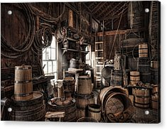 The Coopers Shop - 19th Century Workshop Acrylic Print by Gary Heller