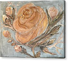The Copper Rose Acrylic Print by Corina Lupascu