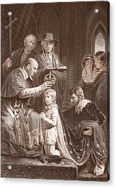 The Coronation Of Henry Vi, Engraved Acrylic Print by John Opie