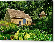 The Cotswald Barn And Dovecove Acrylic Print