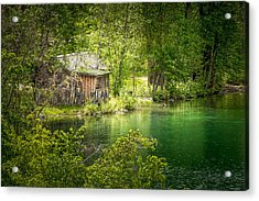The Cottage By The Lake Acrylic Print