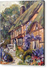 The Cottage Acrylic Print by Donna Tucker