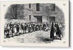 The Cotton Famine Operatives Waiting For Their Breakfast Acrylic Print by English School