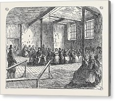 The Cotton Famine Waiting Room At The District Provident Acrylic Print by English School
