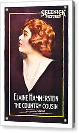 The Country Cousin, Elaine Hammerstein Acrylic Print by Everett