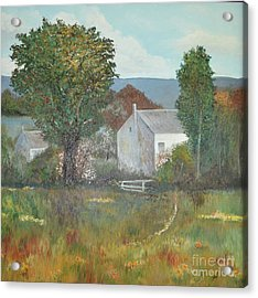 Acrylic Print featuring the painting The Country House by Suzette Kallen