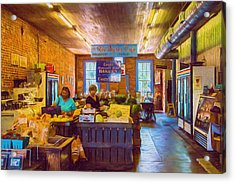 The Country Store - Impressionistic - Nostalgic Acrylic Print by Barry Jones