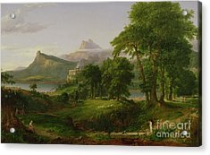 The Course Of Empire   The Arcadian Or Pastoral State Acrylic Print by Thomas Cole