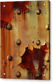 The Course Of Rust Acrylic Print by Charles Lucas