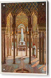 The Court Of Lions          Date Circa Acrylic Print by Mary Evans Picture Library