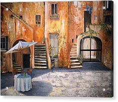The Courtyard Acrylic Print