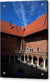 The Courtyard Of 15th Century Acrylic Print by Panoramic Images