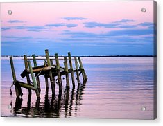 Acrylic Print featuring the photograph The Cove Dock by Brian Hughes