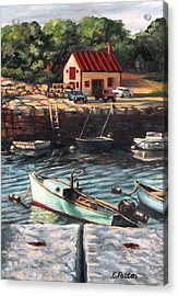 The Cove Acrylic Print by Eileen Patten Oliver