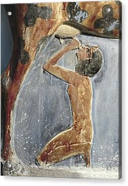 The Cow Goddess Hathor Breast Feeding Acrylic Print by Everett