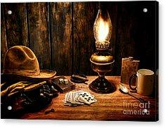 The Cowboy Nightstand Acrylic Print