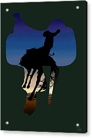 The Cowboy Way 3.. Long Day At The Office Acrylic Print by Brien Miller