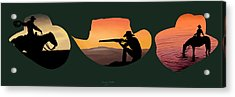 The Cowboy Way Acrylic Print by Brien Miller