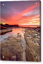 The Crack In The Rock Acrylic Print