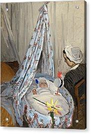 The Cradle Acrylic Print by Claude Monet