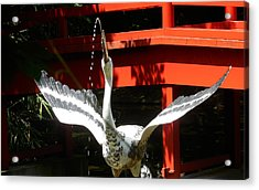 The Crane Fountain Acrylic Print