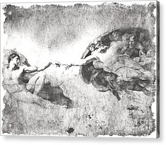 The Creation Of Adam Acrylic Print by Stefano Senise