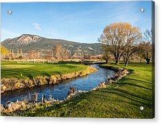 The Creek Runs Through Acrylic Print