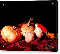 New Orleans Onions, Garlic, Red Chili Pepper Used In Creole Cooking A Still Life Acrylic Print