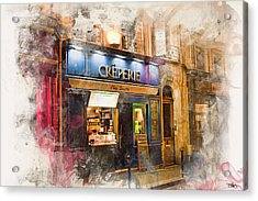 The Creperie Acrylic Print by Evie Carrier
