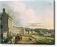 The Crescent, From Bath Illustrated Acrylic Print by John Claude Nattes