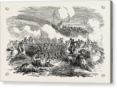 The Crimean War Charge Of The Chasseurs Dafrique October 25 Acrylic Print