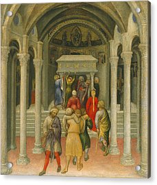 The Crippled And Sick Cured At The Tomb Of Saint Nicholas Acrylic Print