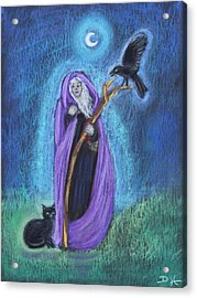 The Crone Acrylic Print