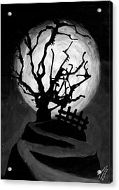 The Crooked Tree Acrylic Print by Salman Ravish