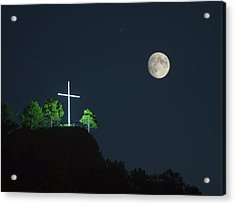 The Cross And The Moon Acrylic Print
