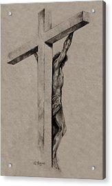 The Cross Acrylic Print by Derrick Higgins